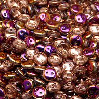 30pcs Czech Two Hole Pressed Glass Lentil Beads 6mm Crystal Sliperit