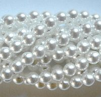 50pcs Czech Pressed Glass Imitation Pearl Beads Round 3mm Snowy White