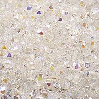 50pcs Czech Fire Polished Faceted Glass Beads Round 4mm Crystal AB
