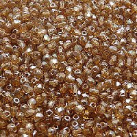 50pcs Czech Fire Polished Faceted Glass Beads Round 3mm Rosaline Celsian