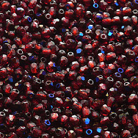 50pcs Czech Fire Polished Faceted Glass Beads Round 3mm Ruby Azuro