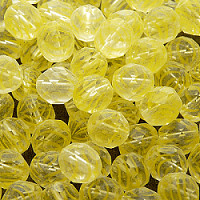 10pcs Czech Fire Polished Faceted Glass Beads Round 8mm Crystal With Yellow Stripes
