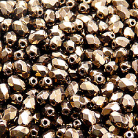 25pcs Czech Fire Polished Faceted Glass Beads Olive 6x4mm Jet Bronze Luster