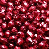 50pcs Czech Fire Polished Faceted Glass Crystal Pearl Beads Olive 7x5mm Bordeaux