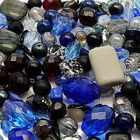 Czech Glass Beads, Winter Night MIX, 100gr