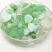 Czech Glass Beads, Mojito MIX, 125g