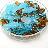Czech Glass Beads, Sea Fairy Tale MIX, 125g