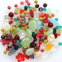 Czech Glass Beads, Kaleidoscope MIX