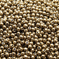 50pcs Czech Pressed Glass Beads Round 3mm Jet Gold Bronze Luster