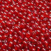 50pcs Czech Pressed Glass Beads Round 4mm Ruby