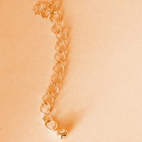1pc Chain Extender 60mm with ball, gold plated