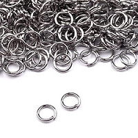 20pcs Jump Ring 5mm Platinum Plated