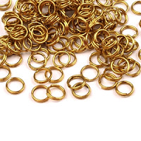 10pcs Jewelry Split Ring Doubled Ø6mm Brass Plated