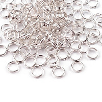 10pcs Jewelery Split Ring Doubled Ø6mm Silver Plated