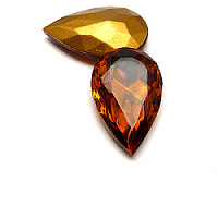 1pc Czech Glass Jewelry Stone Teardrop 32x20mm Topaz /98521