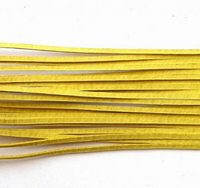 Leather Cord, Yellow, 2mm, 90cm