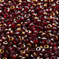 20g Preciosa Czech Glass Seed Beads Rocailles Round 6/0 Ruby Valentinit