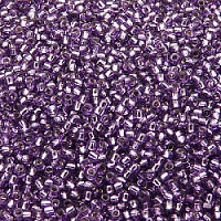 20g Preciosa Czech Glass Seed Beads Rocailles Round 11/0 Crystal Silver Lined And 08228 Terra Color