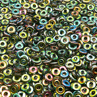 50pcs Czech Pressed Glass Ring Beads 4mm Crystal Vitrail