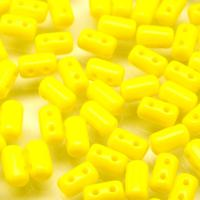 Czech Seed Beads Two-Holed Rulla Yellow Opaque