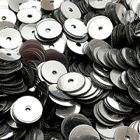 5g Loose Flat Round Sequins Ø8mm Silver Metallic