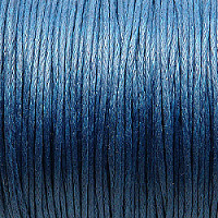 1m Waxed Cotton Cord, 1,0mm, Blue