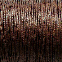 1m Waxed Cotton Cord, 1,0mm, Brown