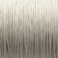 1 m Waxed Cotton Cord, 1,0mm, White
