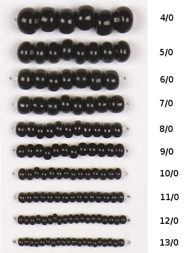 Actual mm size chart beads tattoos